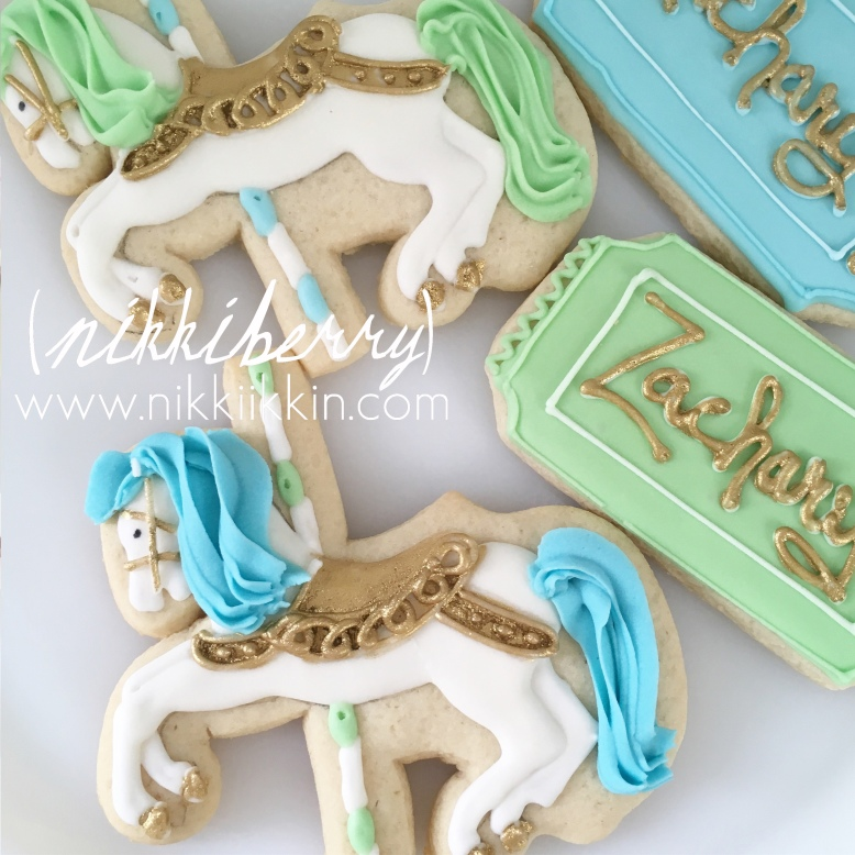 carousel horse cookie